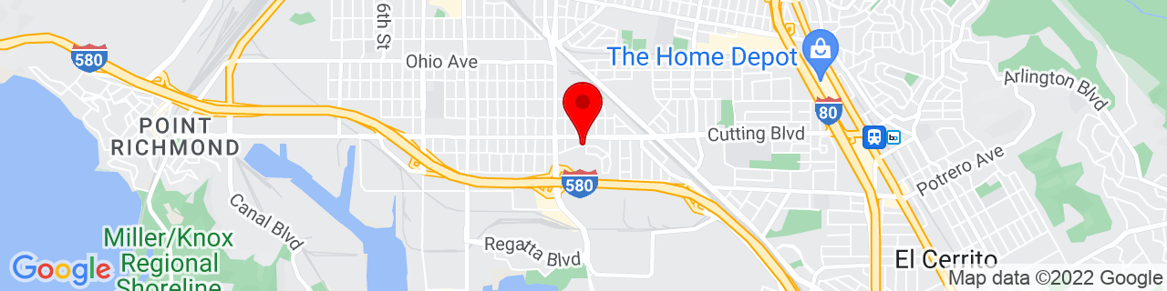 Google Map of 37.9245396, -122.3450014