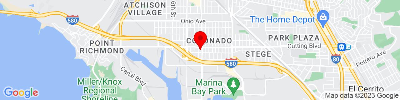 Google Map of 37.9245639, -122.356405