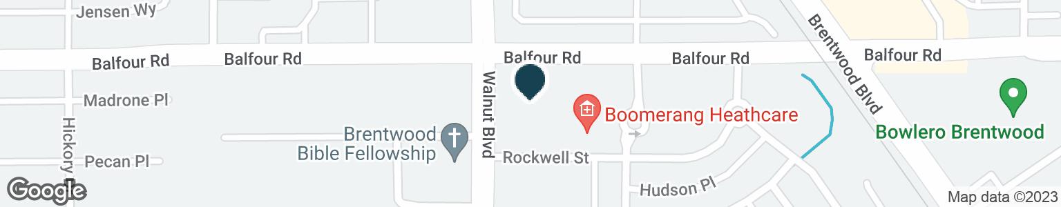 Google Map of4520 BALFOUR RD