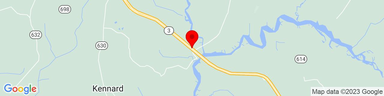 Google Map of 37.9255995, -76.72322609999999