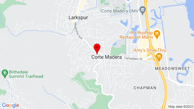 Google Map of Redwood & Corte Madera Avenue, Corte Madera, CA 94925