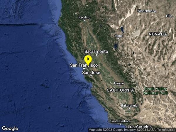 earthquake 5km N of Lafayette, CA