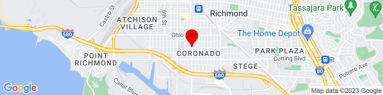 Google Map of 37.9280038, -122.3558858