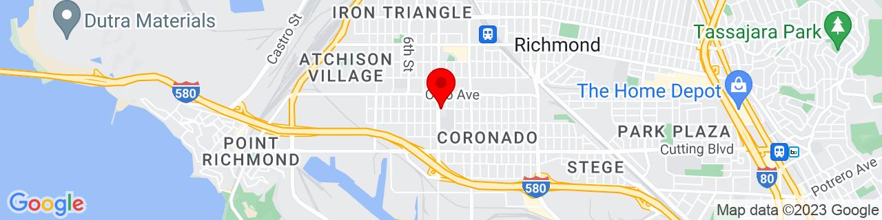 Google Map of 37.9293587, -122.3596801