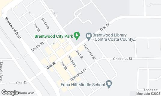 Map of Cap's at 144 Oak St Brentwood, CA