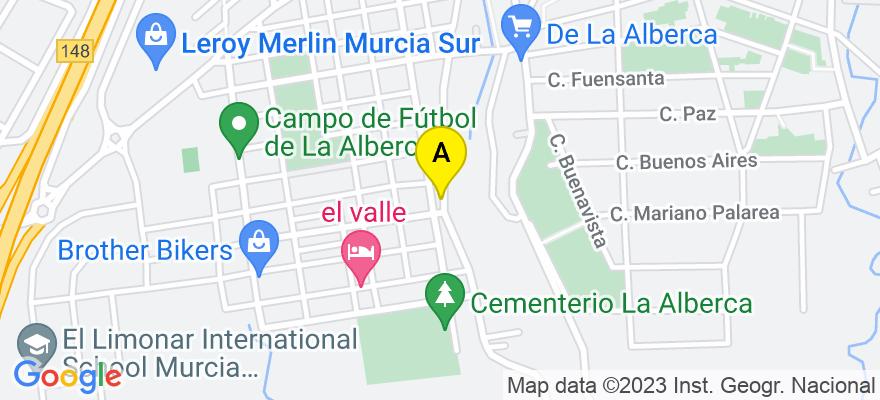 situacion en el mapa de . Direccion: CALLE CARRETAS, Nº 36,1º D, 30150 Murcia. Murcia
