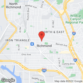 Map of Taco Bell at 2300 Barrett Ave, Richmond, CA 94804