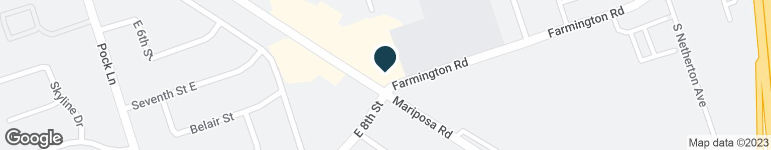 Google Map of2040 E MARIPOSA RD