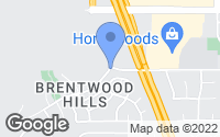 Map of Brentwood, CA