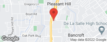 Map of 3496 Buskirk Ave in Pleasant Hill