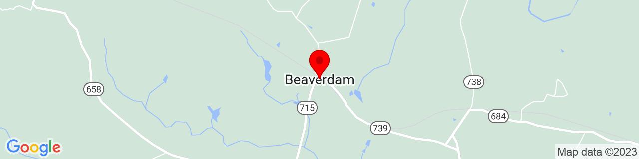 Google Map of 37.9412507, -77.65443259999999