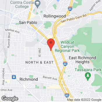 Map of Burger King at 12999 San Pablo Ave, Richmond, CA 94805
