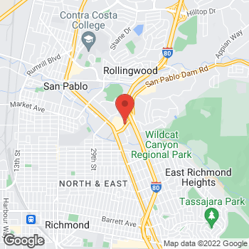 Map of Taco Bell at 40 San Pablo Towne Ctr, San Pablo, CA 94806