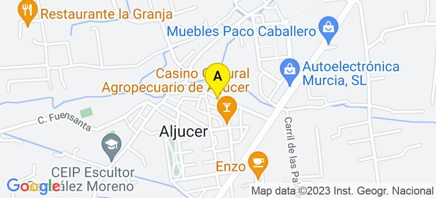 situacion en el mapa de . Direccion: Calle Vereda nº 29, 30152 Murcia. Murcia