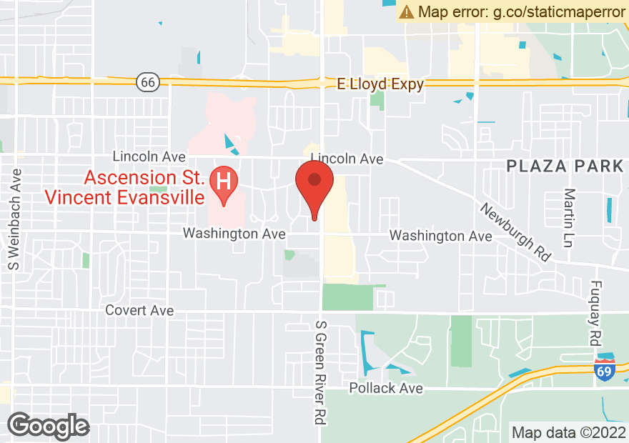 Google Map of 925 S GREEN RIVER RD