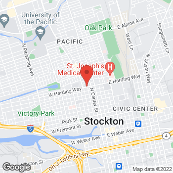 Map of Check `n Go Harding Way at 101 W. Harding Way, Stockton, CA 95204