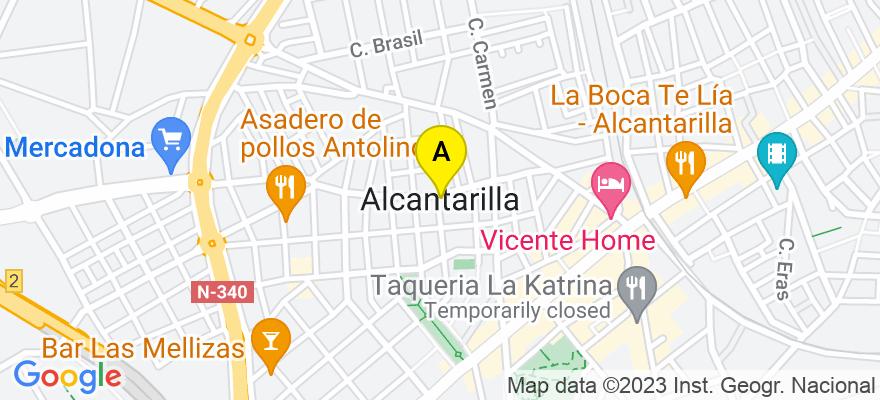 situacion en el mapa de . Direccion: Calle Profesor Pedro Cascáles, 1 entlo, 30820 Alcantarilla. Murcia