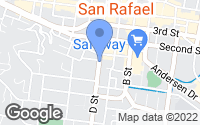 Map of San Rafael, CA