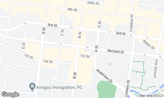 Map of FLATIRON at 724 B St San Rafael, CA