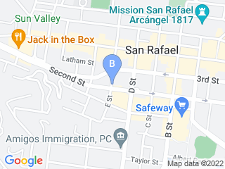 Map of Cats Cradle Boarding   Grooming Dog Boarding options in San Rafael | Boarding