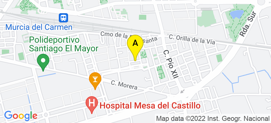 situacion en el mapa de . Direccion: Calle Francisco de Orellana, 30010 Murcia. Murcia