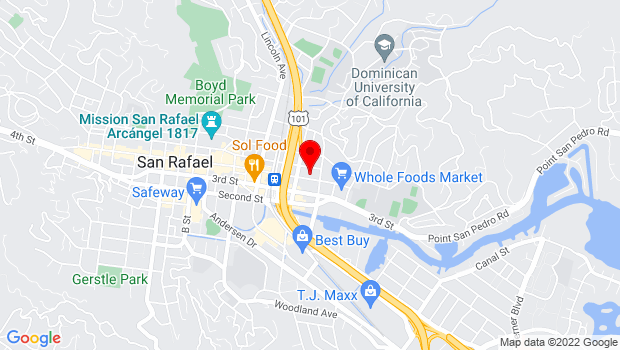 Google Map of 514 Fourth Street, San Rafael, CA 94901