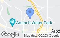 Map of Antioch, CA