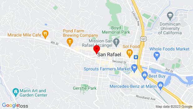 Google Map of 1515 3rd Street (corner of E Street), San Rafael, CA 94901
