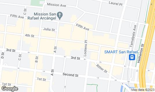 Map of Fenix at 919 4th St San Rafael, CA