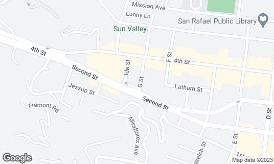 Map of Arrivederci Cafe at 11 G St San Rafael, CA