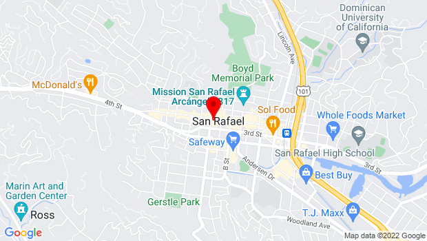 Google Map of 1337 Fourth Street, San Rafael, CA 94901
