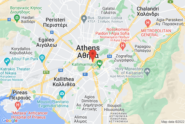 BASI Pilates Greece Map