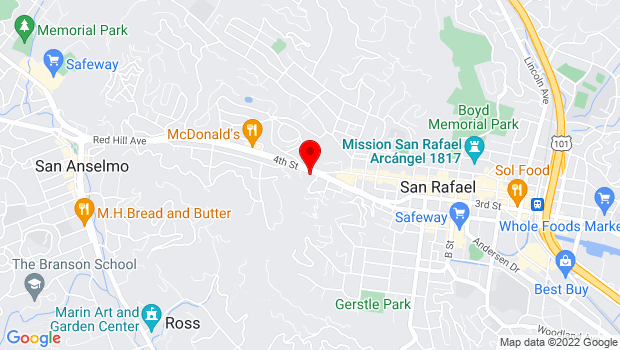Google Map of 215 West End Ave., San Rafael, CA 94901