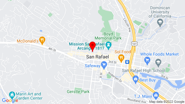 Google Map of 1415 5th Ave., San Rafael, CA 94901