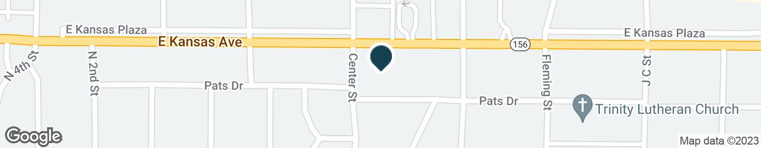 Google Map of1308 E KANSAS AVE