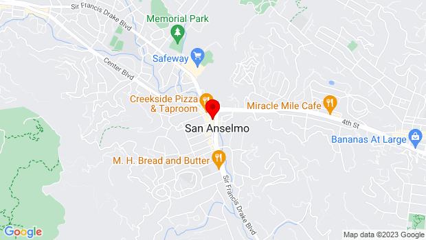 Google Map of 249 Sir Francis Drake Blvd., San Anselmo, CA 94960