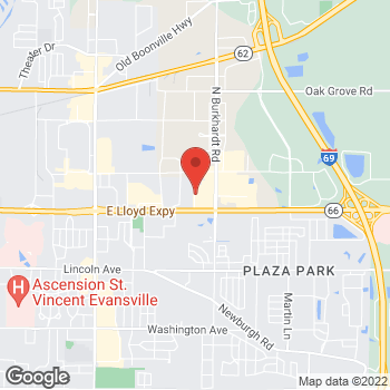 Map of Guitar Center at 6220 E Lloyd Expy, Evansville, IN 47715