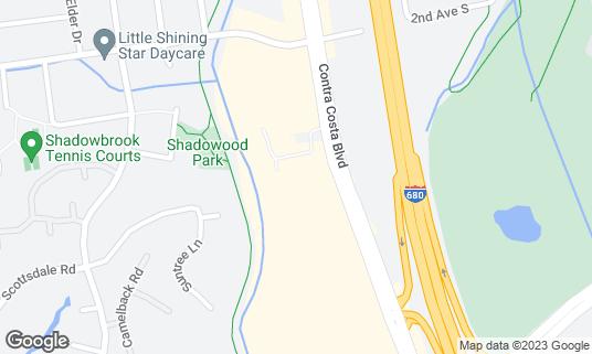 Map of CJ's Saloon at 548 Contra Costa Blvd Pleasant Hill, CA