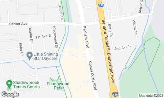 Map of California Grand Casino at 5988 Pacheco Blvd Pacheco, CA