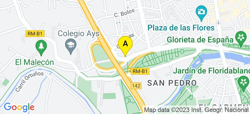 situacion en el mapa de . Direccion: Pintor Sobejano 14, 30007 Murcia. Murcia