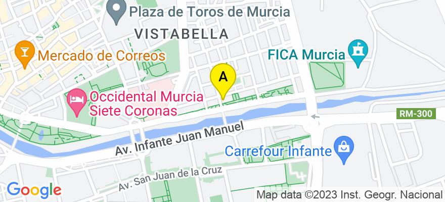 situacion en el mapa de . Direccion: plaza  torrecilla nº 2 2º a, 30008 Murcia. Murcia