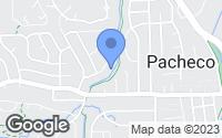 Map of Martinez, CA