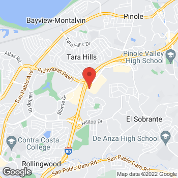 Map of Staples at 1200 Fitzgerald Drive, Pinole, CA 94564