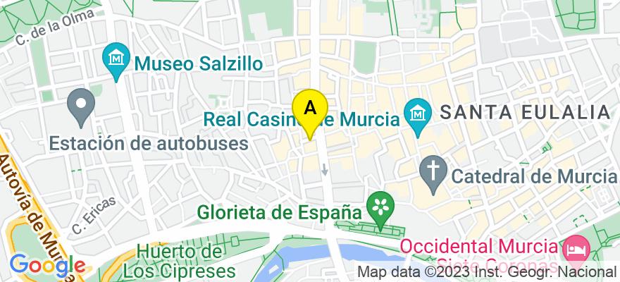 situacion en el mapa de . Direccion: Platería 6, 30004 Murcia. Murcia