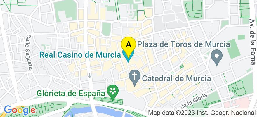 situacion en el mapa de . Direccion: Calle Montijo 3.1A, 30001 Murcia. Murcia