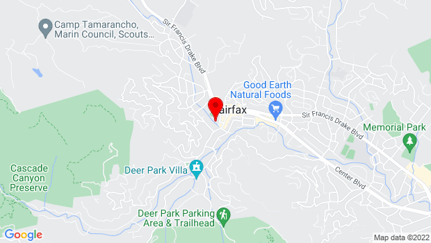 Google Map of 142 Bolinas Rd., Fairfax, CA 94930