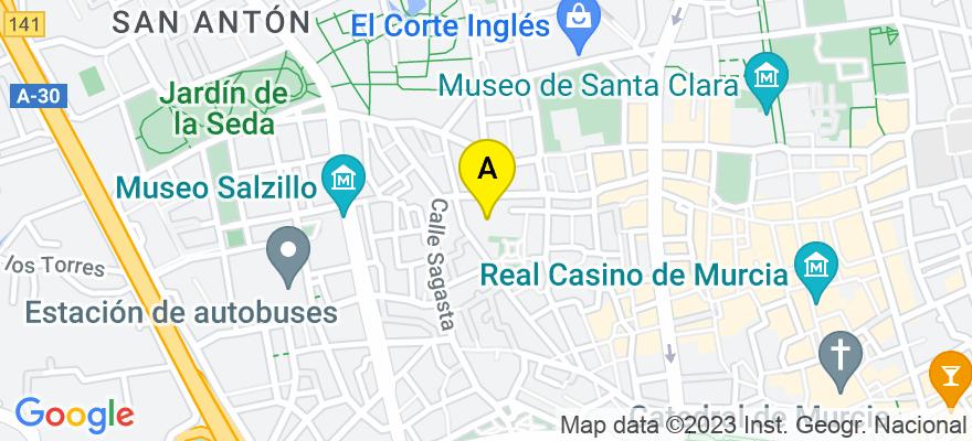 situacion en el mapa de . Direccion: Calle Huérfanos s/n, 30005 Murcia. Murcia