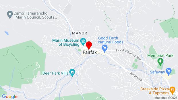 Google Map of 17 Broadway Boulevard, Fairfax, CA 94930