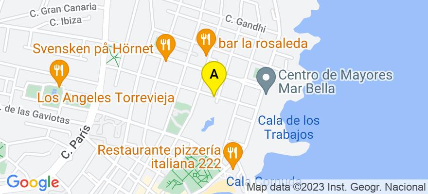 situacion en el mapa de . Direccion: calle doctor alexander fleming. 25 B, 03183 Torrevieja. Alicante