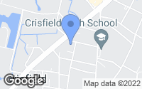 Map of Crisfield, MD
